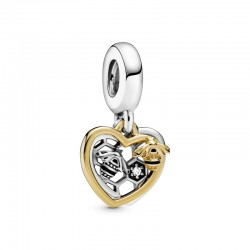 Hearts & Bees Dangle Charm...