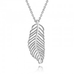Shimmering Feather Pendant...