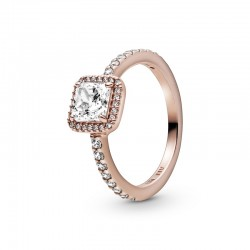 Square Sparkle Halo Ring...