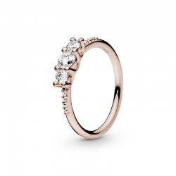 Clear Three-Stone Ring...