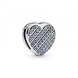 Blue Pavé Heart Clip Charm...