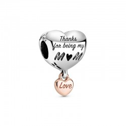 Love You Mum Heart Charm...